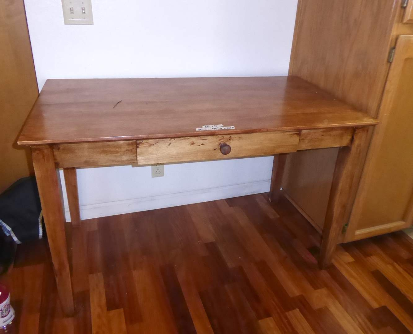 Lot # 10 - Rustic Wooden Table w/ Drawer  (main image)