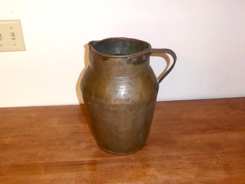 Lot # 16 - Heavy 19th Century Antique Copper Pitcher  (main image)
