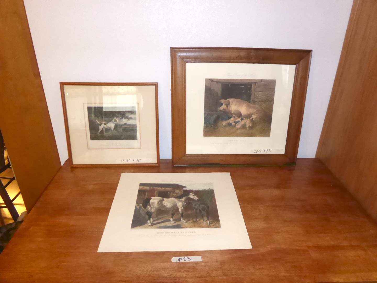 Lot # 23 - Two Fores's Series Of The Mothers Prints & Colonel Throrton Pointer & Hare  (main image)