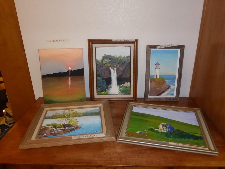 Lot # 26 - Five Original Oil Paintings  (main image)