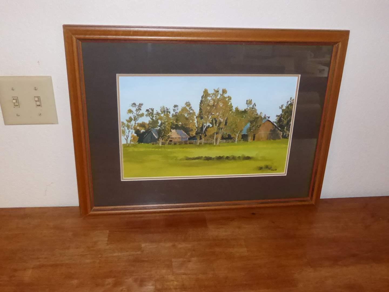 Lot # 28 - Original Framed Watercolor (Behind Glass)  (main image)