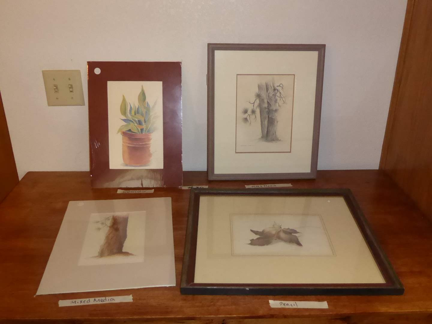 Lot # 30 - Three Original Art Pieces (Watercolor, Mixed Media & Pencil)  (main image)