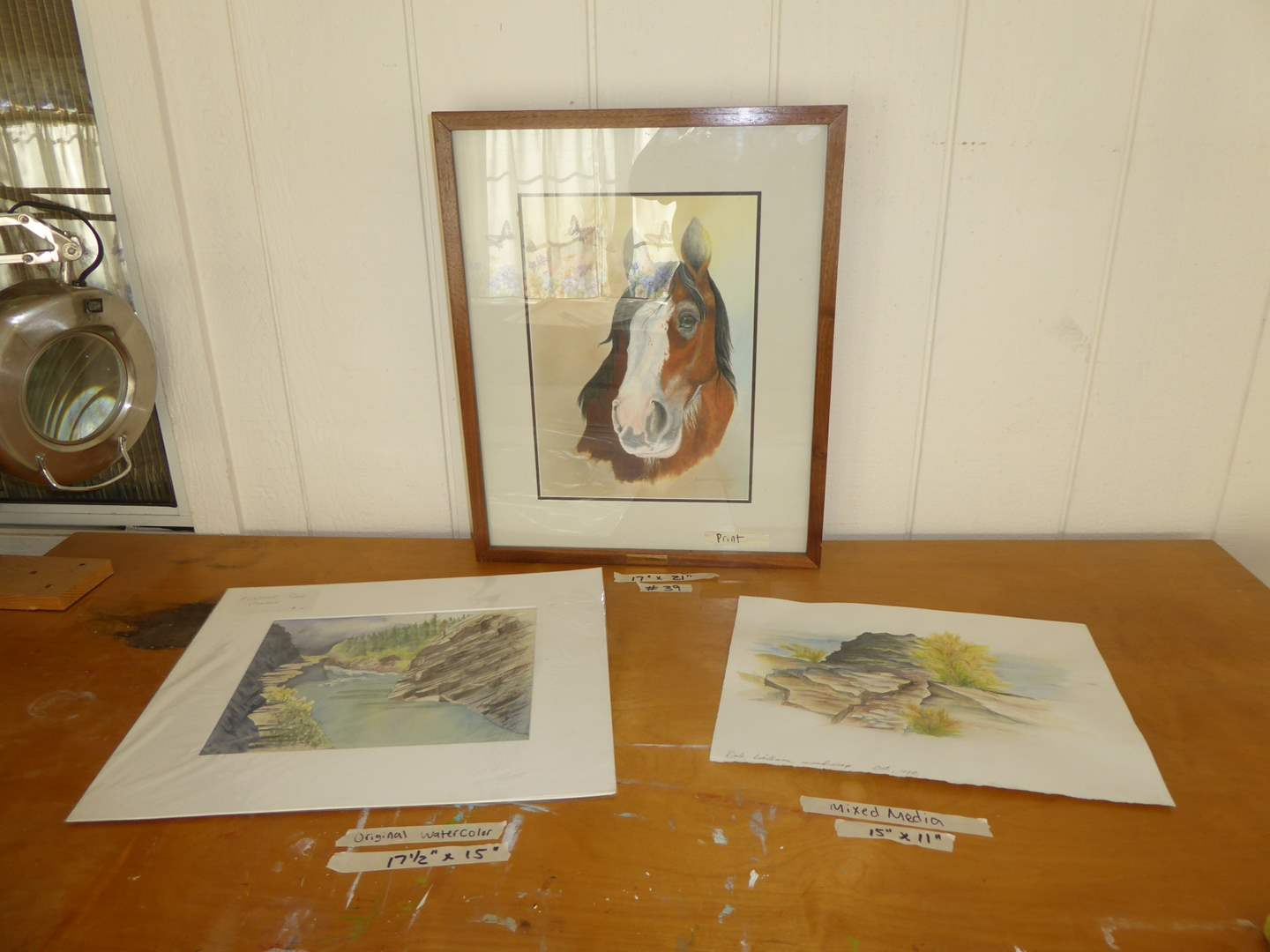 Lot # 39 - Framed Print & Matted Mixed Media & Watercolor  (main image)