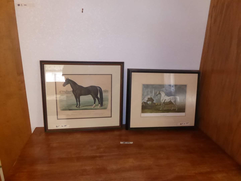 Lot # 42 - Rysdyk's Hambletonian & Mambino (Framed Art)  (main image)