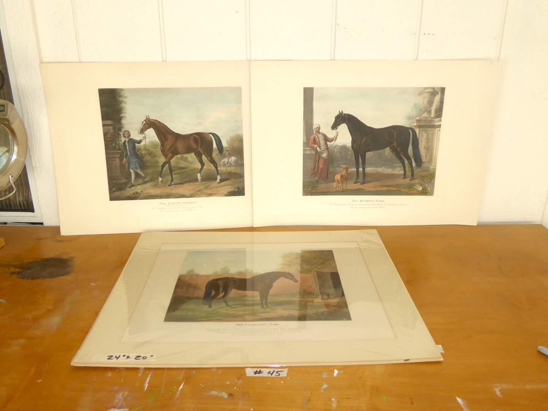 Lot # 45 - Three Horse Prints  (main image)