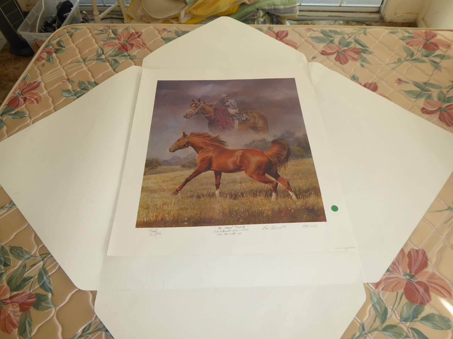 """Lot # 47 - """"The Final Tribute Of Secretariat"""" Fred Stone Signed & Numbered Print  (main image)"""