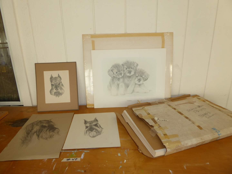 Lot # 48 - Original Pencil Drawings & Lot Of Identical Prints  (main image)