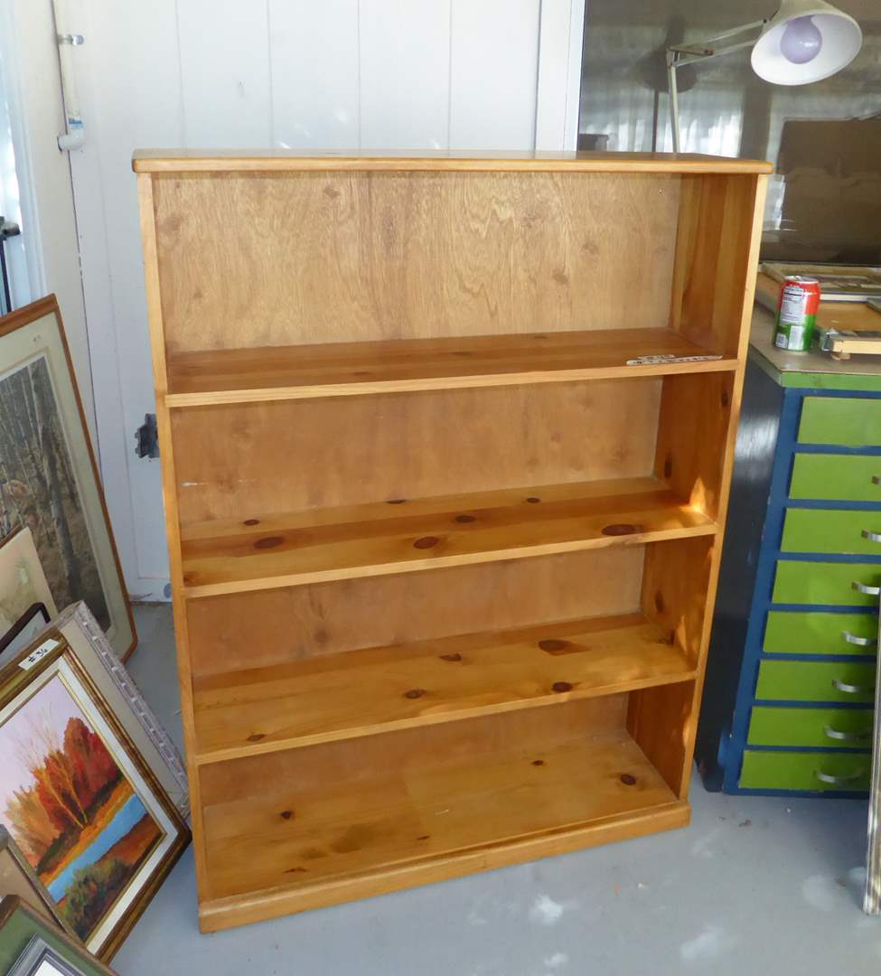 "Lot # 49 - Four Shelf Bookcase ""Quality Craft Inc""  (main image)"