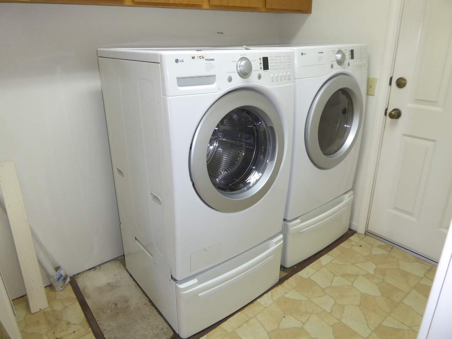 Lot # 156 - LG Electronics Front Load Washer & Electric Dryer  (main image)