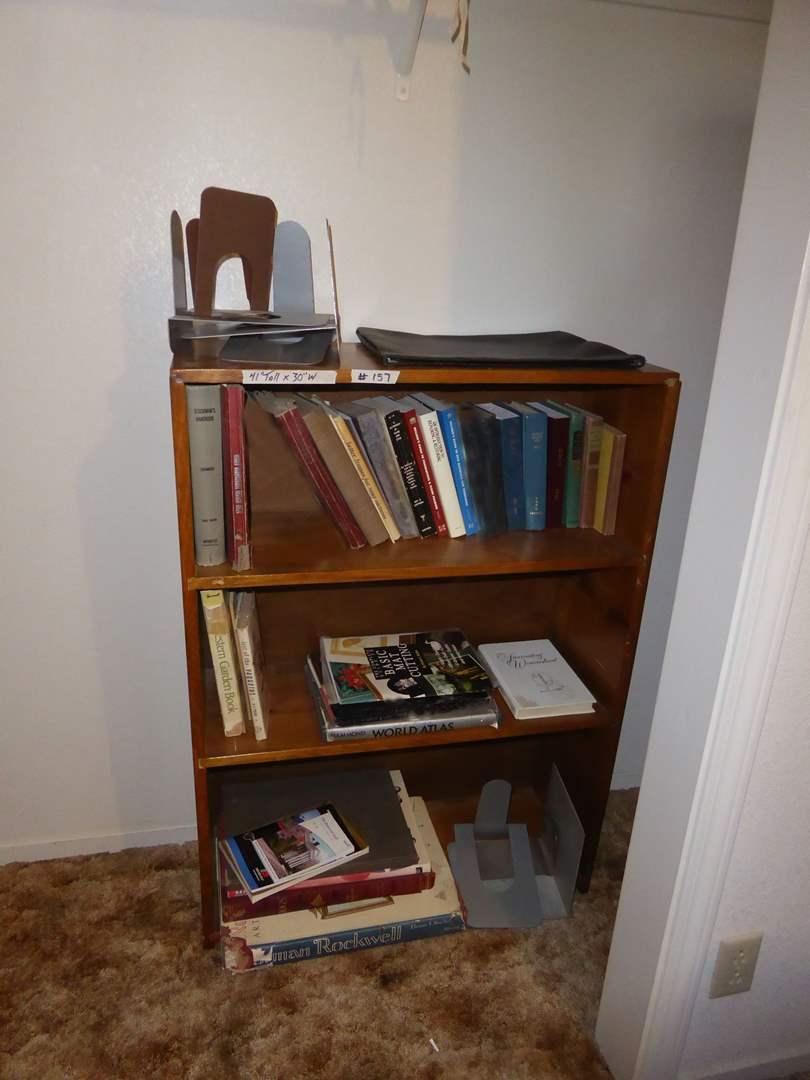 Lot # 157 - Book Shelf & Miscellaneous Books  (main image)