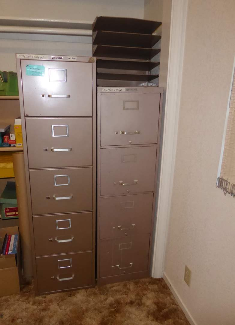 Lot # 161 - Two Metal Filing Cabinets  (main image)