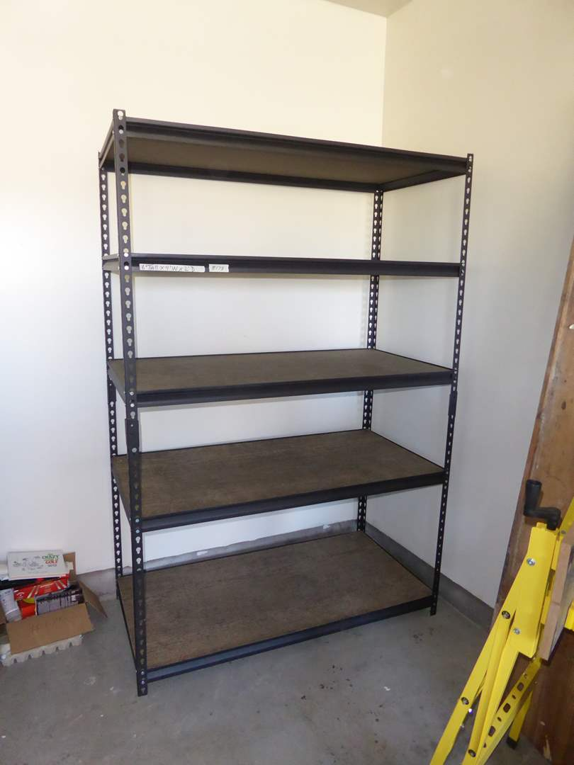 Lot # 178 - 5-Tier Metal Shop Shelf  (main image)