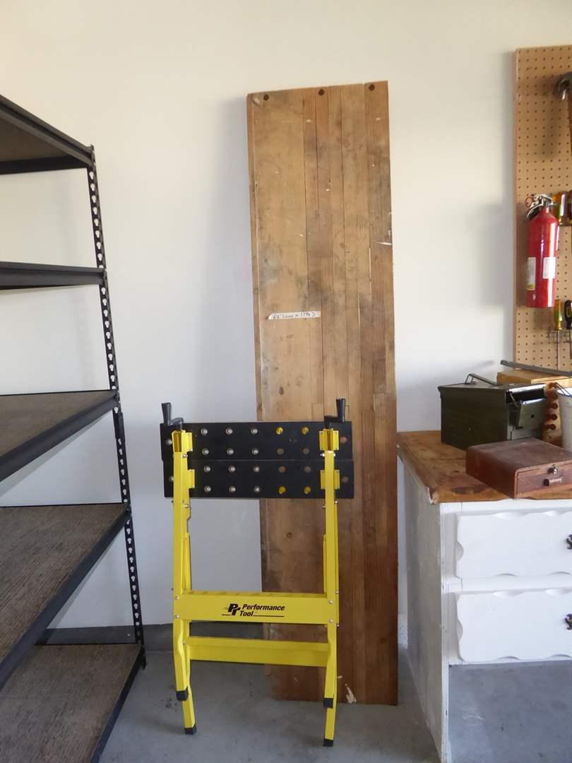 Lot # 179 - PT Performance Tool Folding Work Bench & Wooden Scaffolding  (main image)