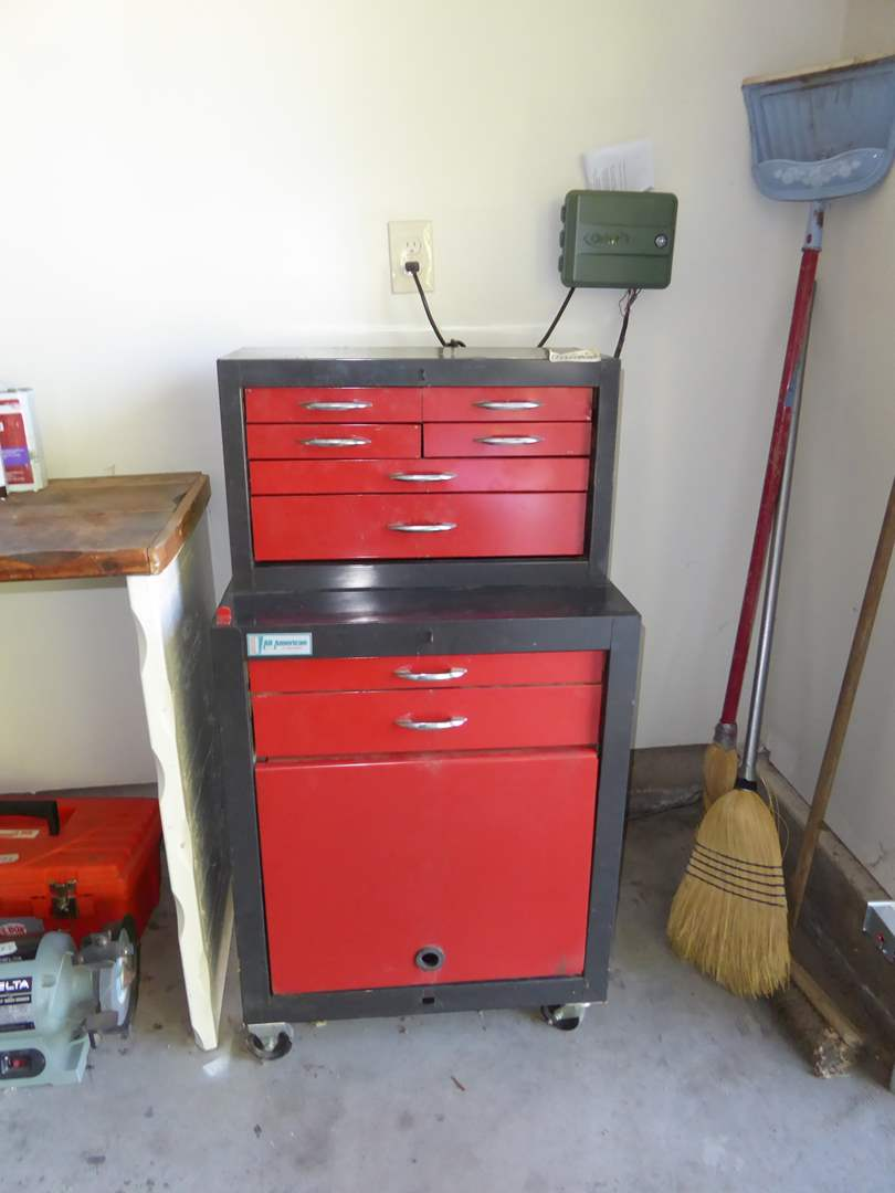 Lot # 184 - All American Rolling Tool Chest W/Tools  (main image)