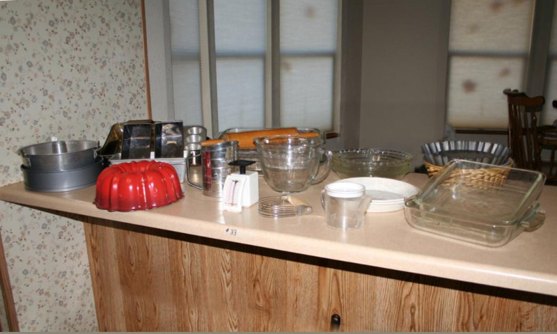 Lot #33 ~ Bakeware: Bunt, Springform and Bread Pans, Sifter, Scale, Pie Plates and Loads More (main image)