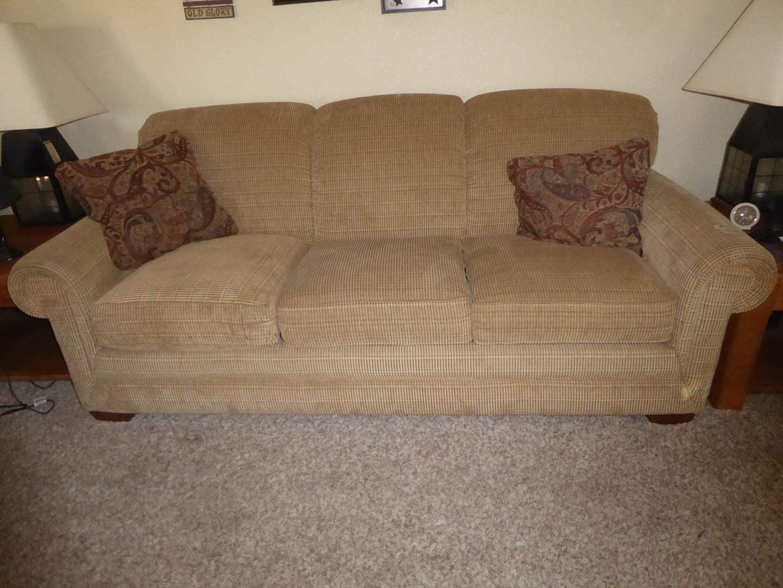 Lot # 52 - Quality LA-Z-BOY Sofa w/Throw Pillows (main image)