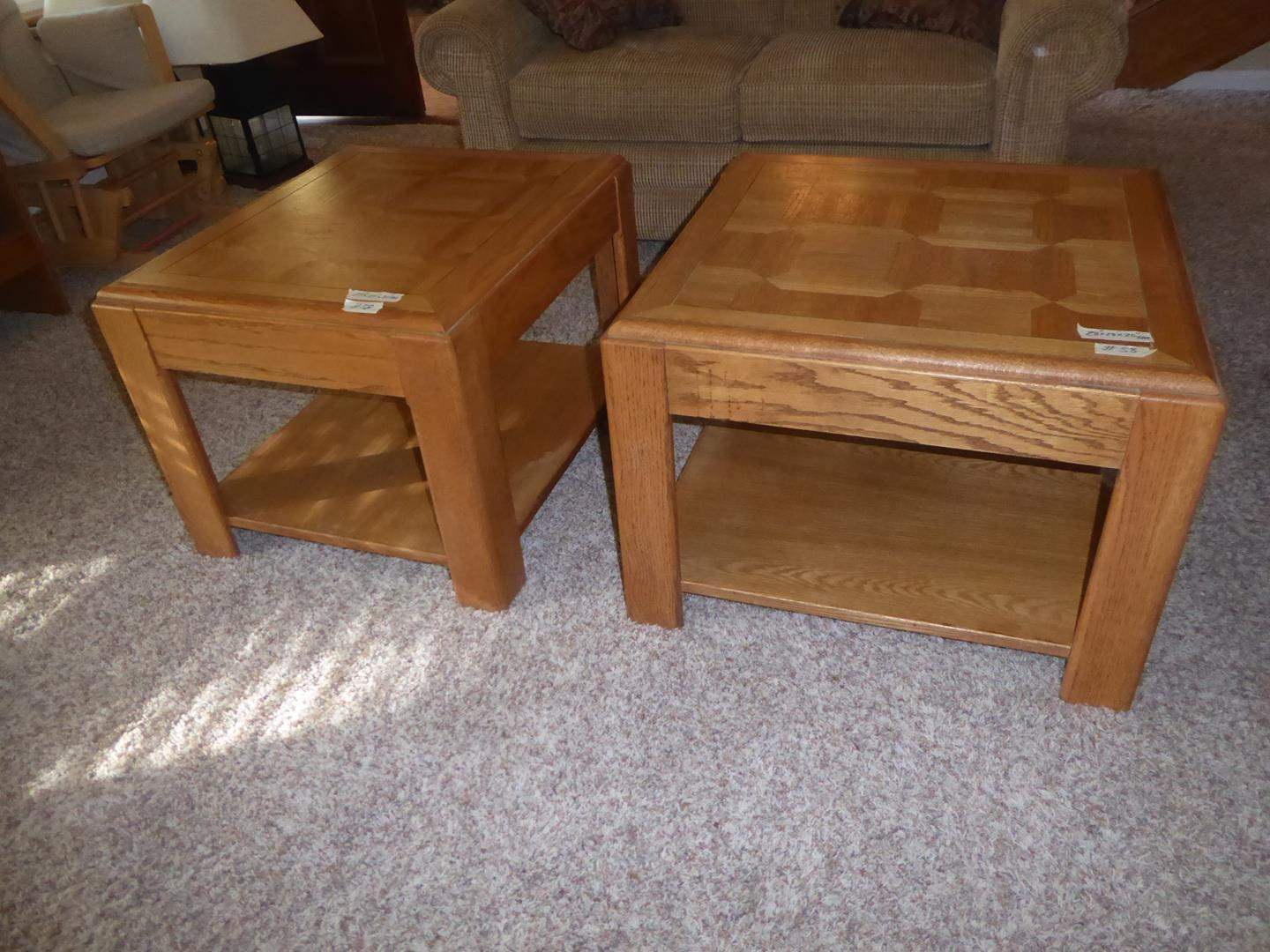 Lot # 58 - Two Nice Wood End Tables (main image)
