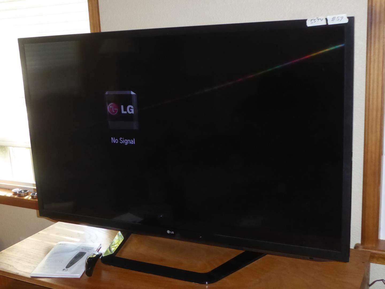 "Lot # 59 - 55"" LG LED LCD TV On Swivel Stand w/Magic Motion Remote  (main image)"