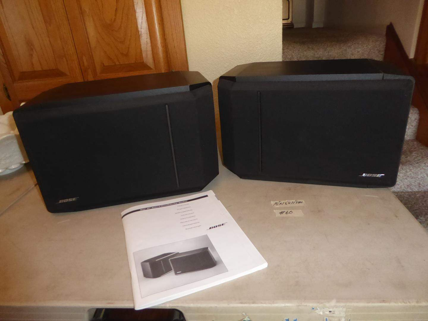 Lot # 60 - Pair Bose Speakers w/Manual (main image)