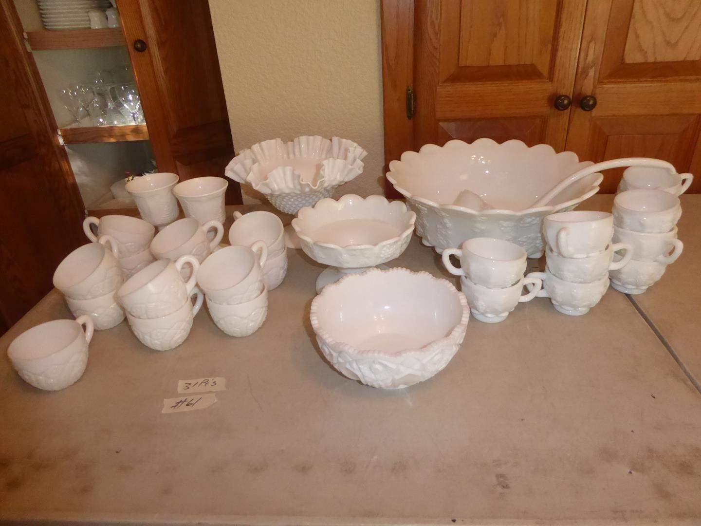 Lot # 61 - Vintage Milk Glass Collection - 31 Pieces (main image)