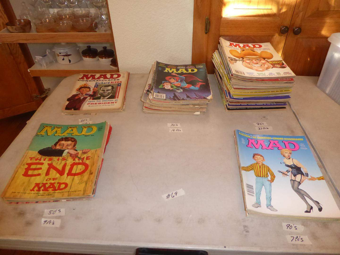 Lot # 69 - Vintage Mad Comic Books Collection (main image)