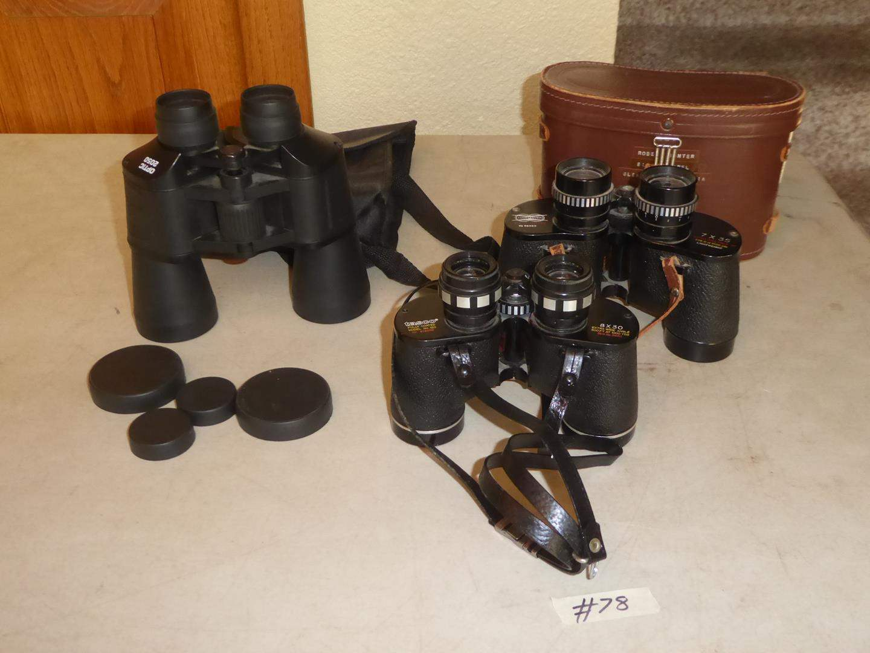 Lot # 78 - Three Binoculars (main image)