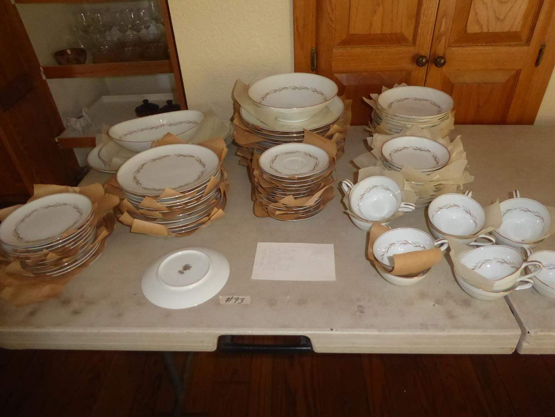 "Lot # 93 - Vintage Noritake Fine China Formal Dinnerware ""Laurel"" - 86 Pieces (main image)"