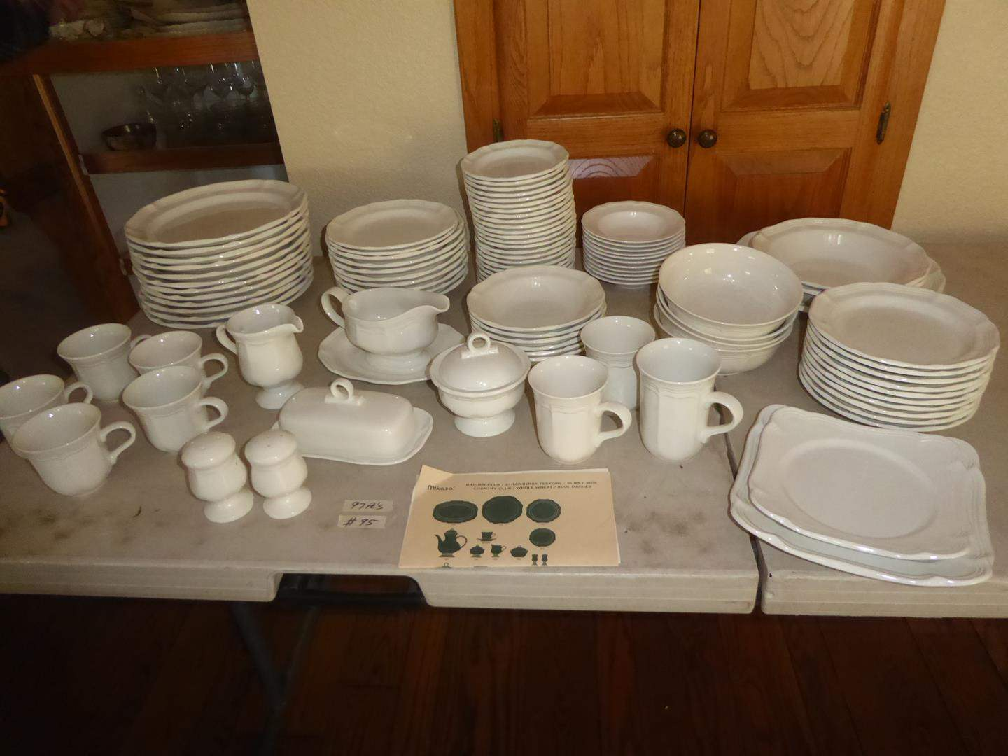 """Lot # 95 - Mikasa """"French Countryside"""" Dishes - 97 Pieces (main image)"""