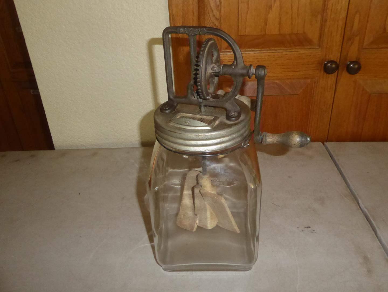 Lot # 98 - Antique Dazey Butter Churn (main image)