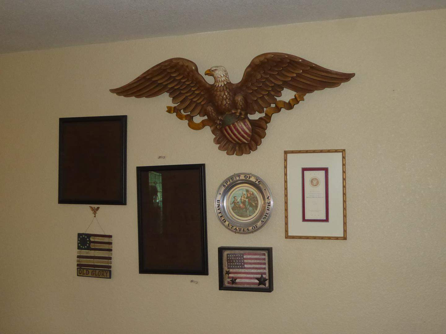 Lot # 113 - Decorative American Wall Hanging Memorabilia  (main image)