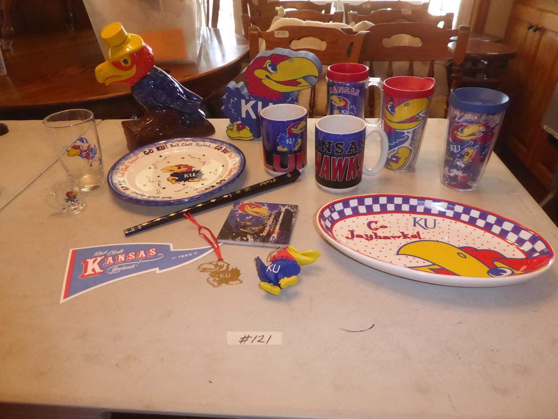 Lot # 121 - Kansas City Jayhawks Memorabilia & Flute (main image)