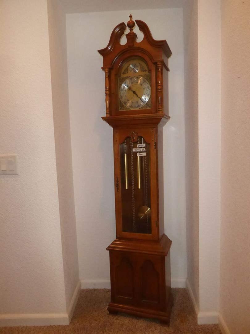 Lot # 124 - Vintage Herschede Grandfather Clock - Runs (main image)