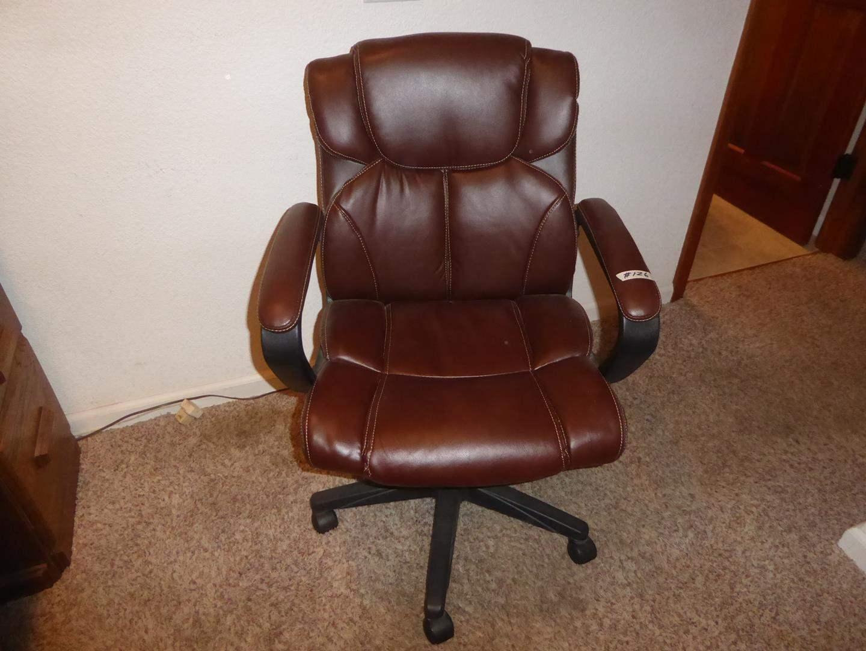 Lot # 126 - Burgundy Office Chair (main image)