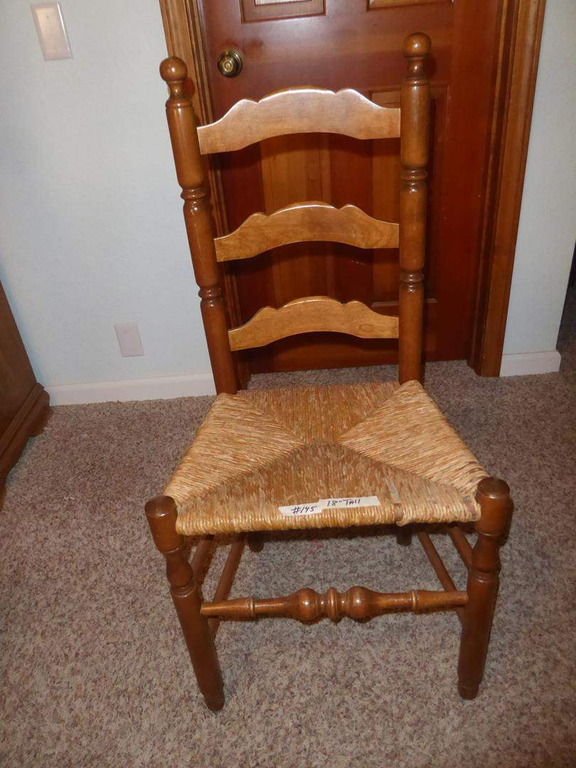 Lot # 145 - Vintage Accent Chair w/Rush Seat (main image)