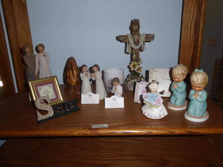 Lot # 152 - Willow Tree Figurines, Praying Hands, Sister Sayings & W. Germany Goebel Figurines (main image)