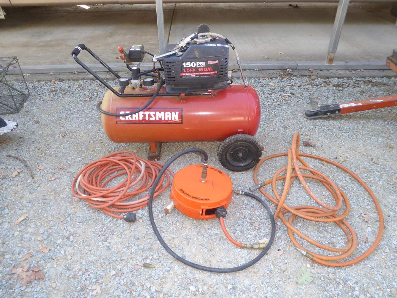 Lot # 304 - Craftsman 150 PSI Air Compressor & Air Hoses (main image)