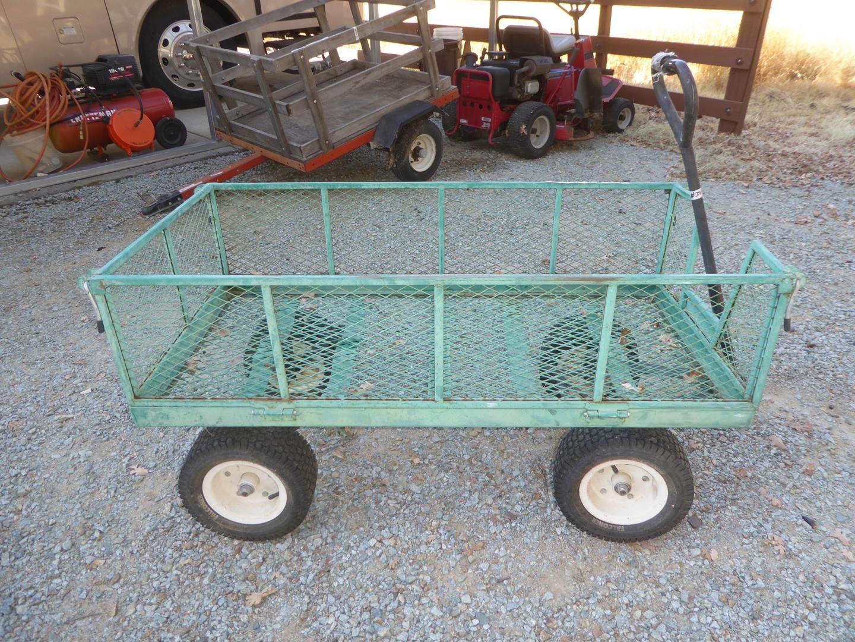 Lot # 309 - Metal Garden Cart w/Drop Down Sides (main image)