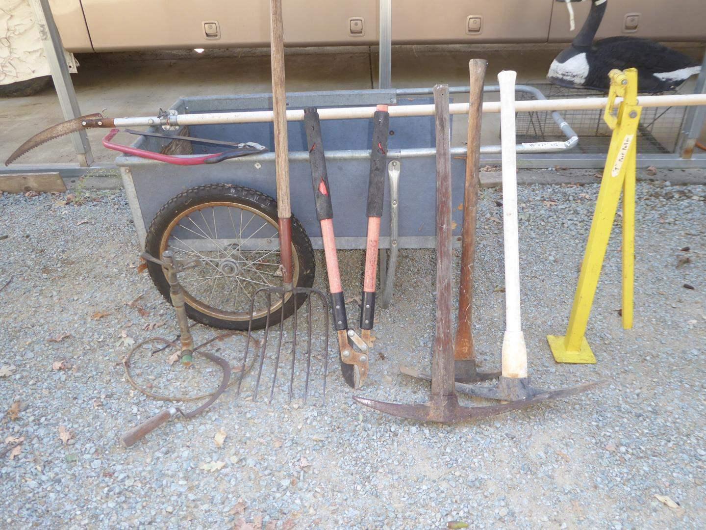 Lot # 310 - Garden Cart & Yard Tools (main image)
