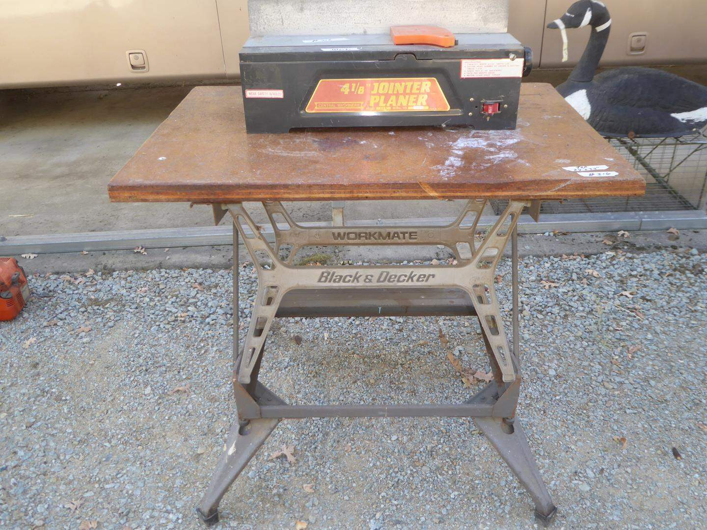 Lot # 316 - Central Machinery Joint Planer & Workmate Table (main image)