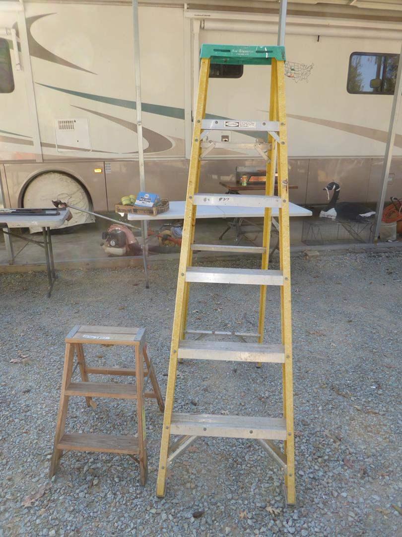 Lot # 317 - Step Ladder & 6' Ladder (main image)