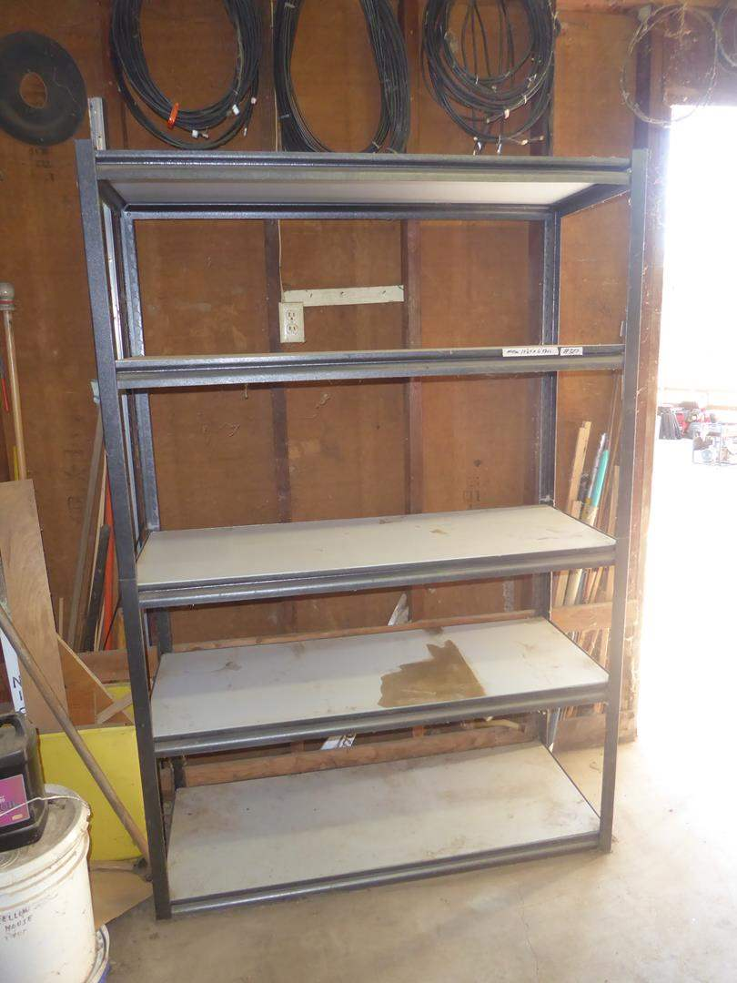 Lot # 327 - Metal Framed Shop Shelf (main image)