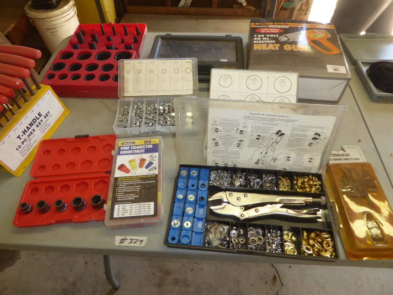Lot # 329 - Snap Kit Set, Hex Key Set, Hardware, Heat Gun, O-Rings & Craftsman Grip Driver (main image)