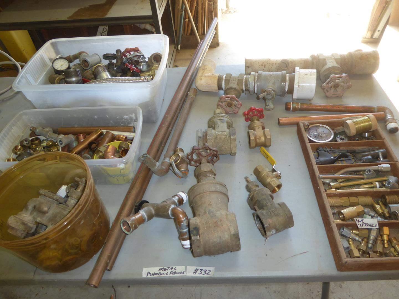 Lot # 332 - Metal Plumbing Fittings & Air Fittings (main image)