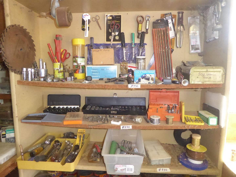 Lot # 336 - Misc. Sockets, Drill Bits, Hand Tools & More (main image)