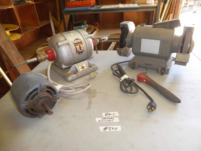 Lot # 342 - Motors & Grinder (main image)