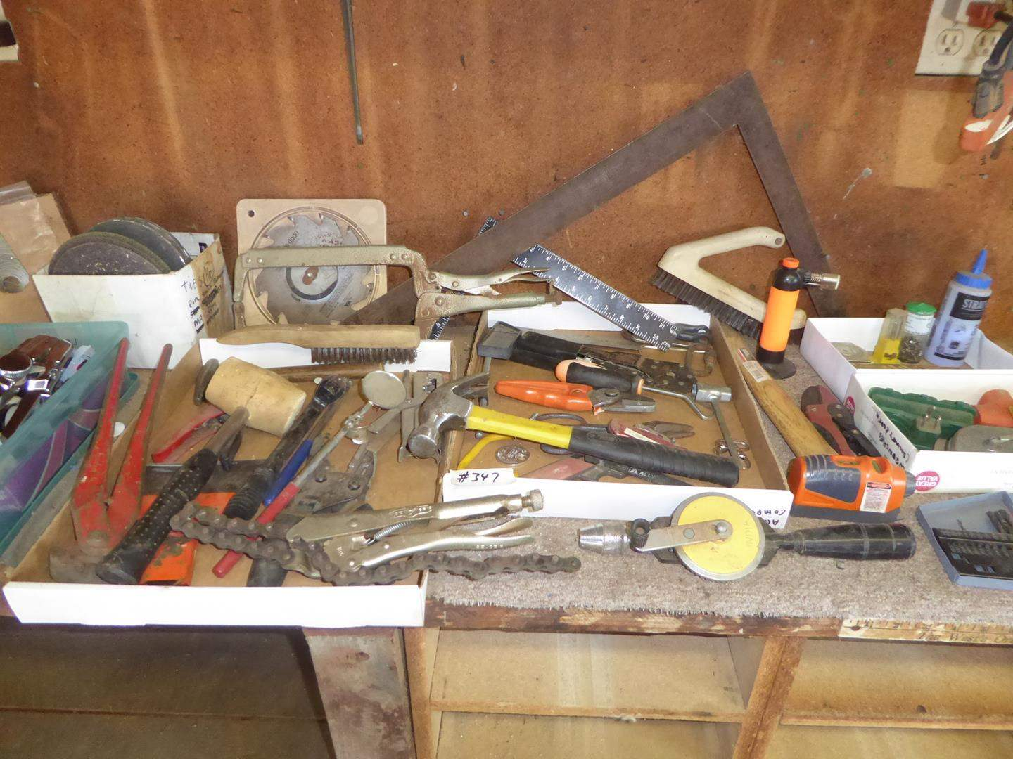 Lot # 347 - Label Makers, Grinding Wheels, Hand Tools & More (main image)