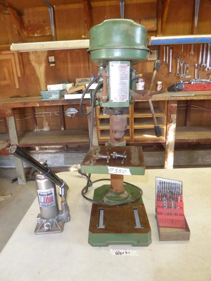 Lot # 350 - 4 Ton Bottle Jack & Drill Press (main image)
