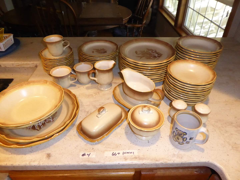 "Lot # 4 - 66+ Pieces ""Whole Wheat"" Mikasa Dishes (main image)"