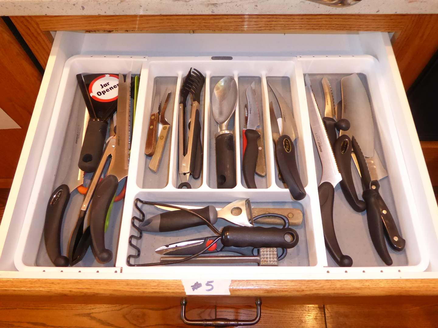 Lot # 5 - Kitchen Utensils, Miracle Blade Knives & Other Knives  (main image)