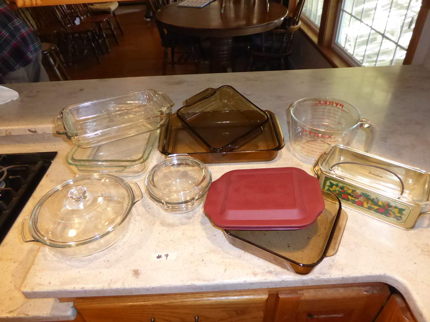 Lot # 9 - Glass Baking Dishes (Pyrex, Anchor Hocking)  (main image)